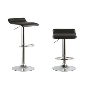 2 piece adjustable height swivel bar stool set