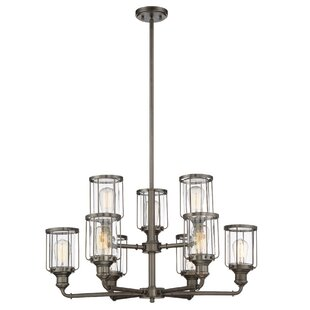 Williston Forge Adriana 9-Light Shaded Chandelier