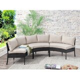 Purington Circular Patio Sectional with Cushions by Breakwater Bay