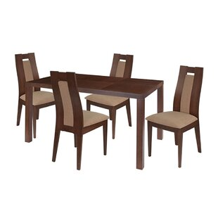 Leia 5 Piece Solid Wood Di..