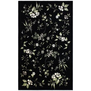Black Floral Plant Area Rugs You Ll Love Wayfair