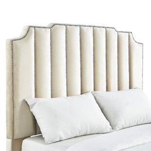 Willa Arlo Interiors Elof Velvet Upholstered Panel Headboard