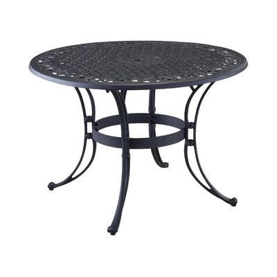 "Ayleen Metal Dining Table Color: Black Metal, Table Size: 42"" by August Grove"