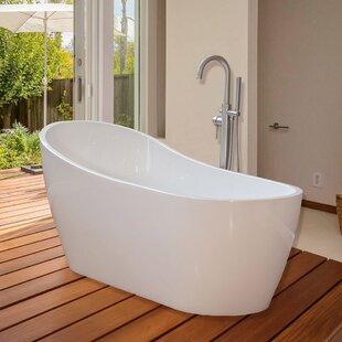 Best 67 x 29 Freestanding Soaking Bathtub ByWoodBridge