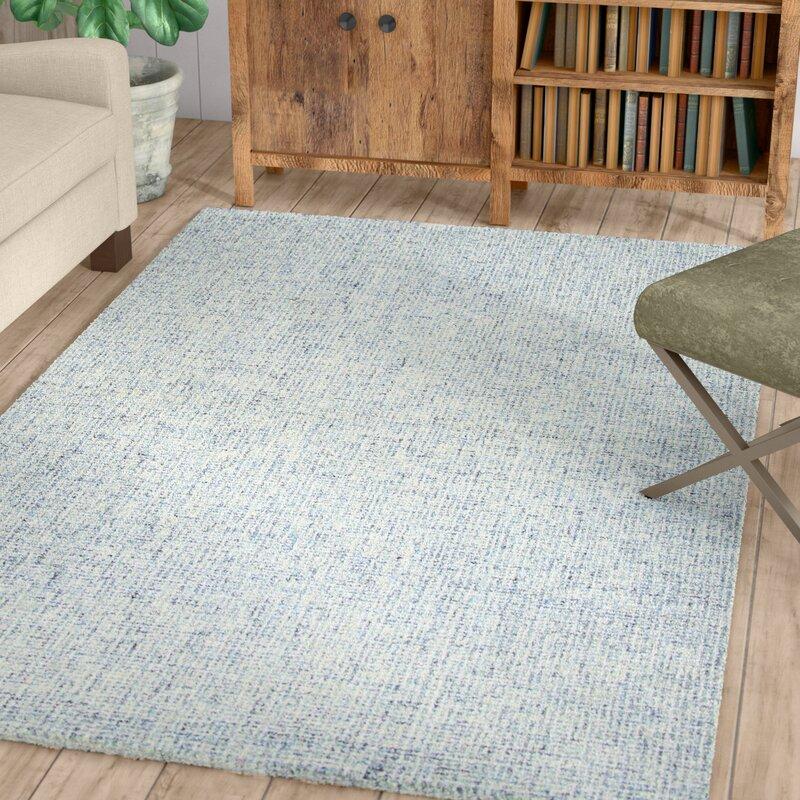 Gracie Oaks Marsh Hand Tufted Wool Blue Area Rug Reviews Wayfair