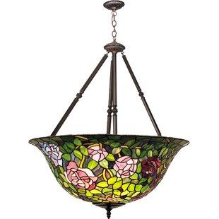 Meyda Tiffany Tiffany Rosebush 5-Light Bowl Pendant