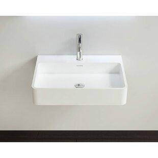 Polymarble 23 Wall Mount Bathroom Sink with Overflow Badeloft