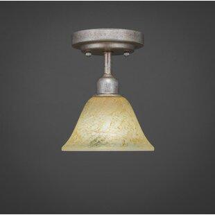 Kash 1-Light Gold Semi-Flush Mount by Williston Forge