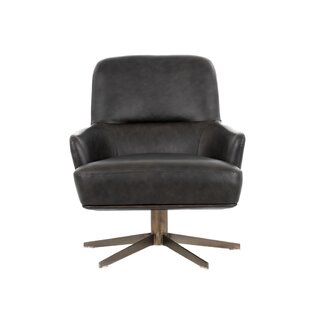 Sunpan Modern Club Swivel Lounge Chair