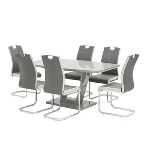 Harriett Dining Set With 6 Chairs By Metro Lane