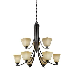 Darby Home Co Varian 9-Light Shaded Chandelier