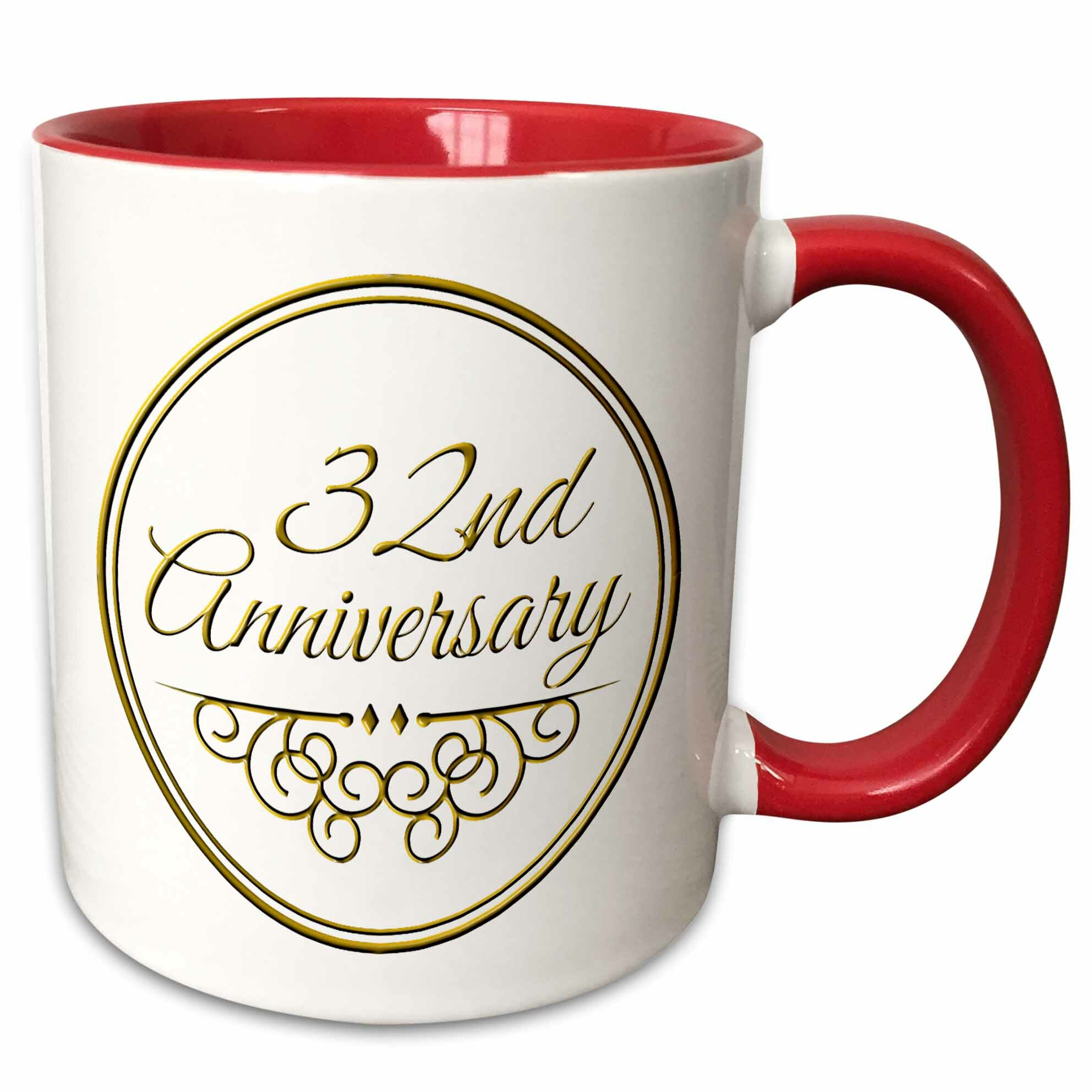 The Party Aisle 32nd Anniversary Gift Text For Celebrating Wedding Anniversaries 32 Years Married Together Coffee Mug Wayfair