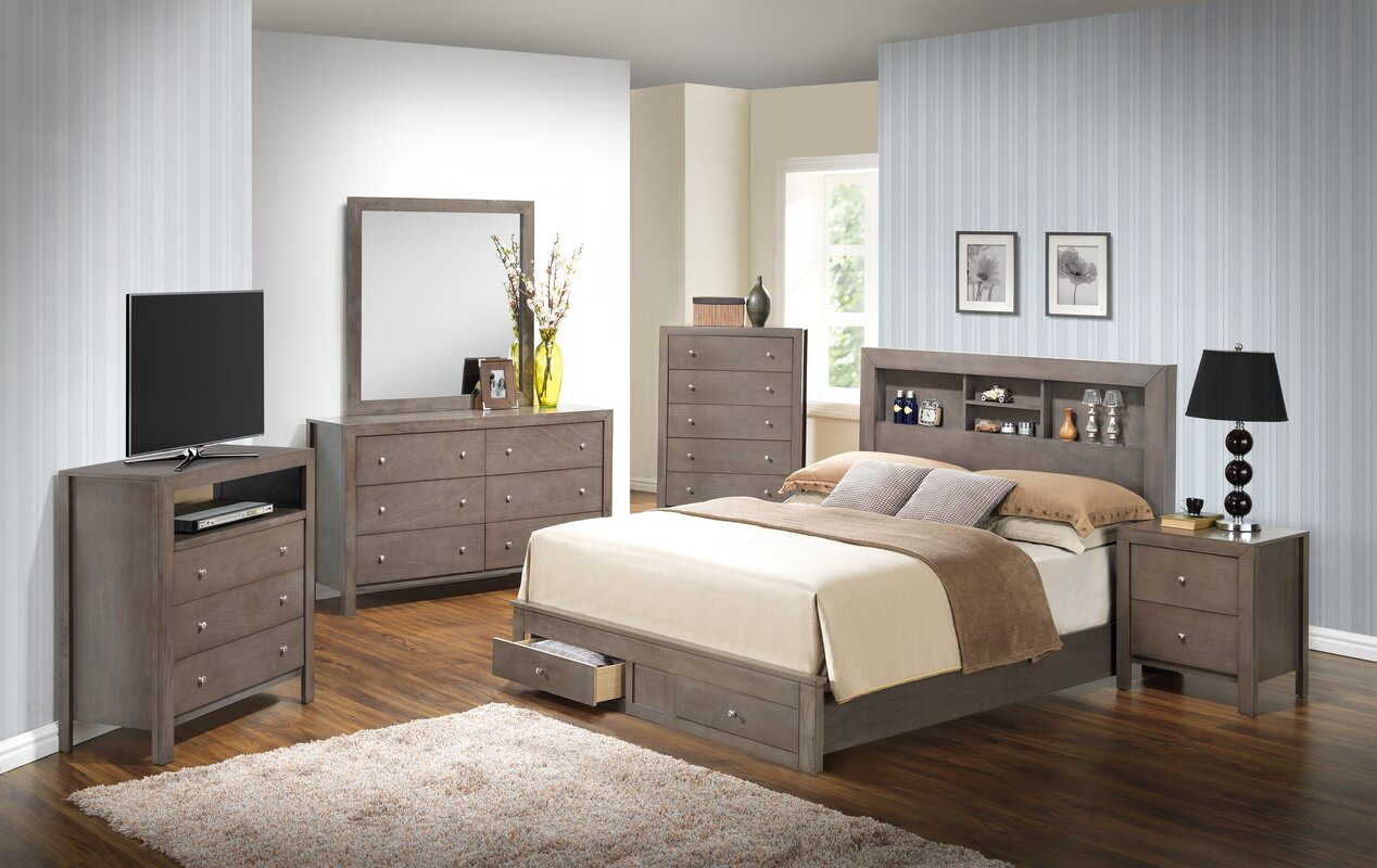 Bedroom sets with storage