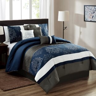 Ulrich Embroidery 7 Piece Comforter Set
