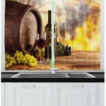 Wine Themed Kitchen Curtains Wayfair