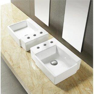 Compare prices Ceramic 16.25 Bathroom Sink ByRoyal Purple Bath Kitchen