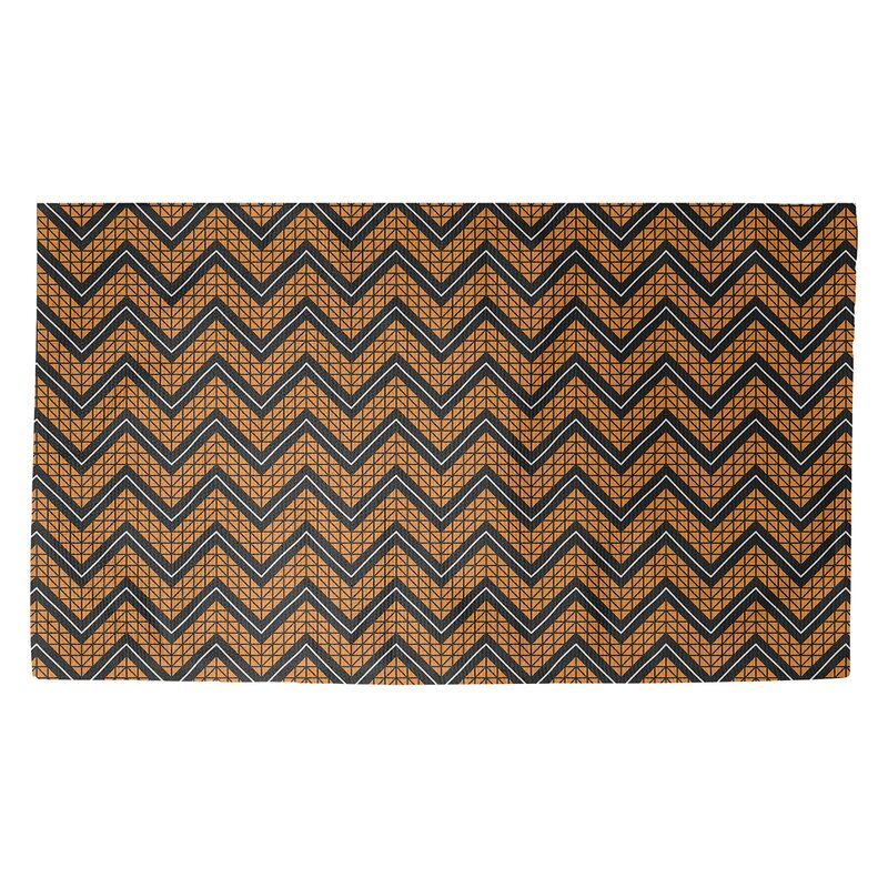 Brayden Studio Stephenie Chevron Brown Area Rug Wayfair