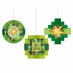 TNT Party Honeycomb Paper Disposable Hanging Decor (Set of 9)