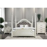 Twerton King Four Poster Solid Wood Configurable Bedroom Set by Canora Grey