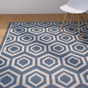 Catharine Navy/Beige Indoor/Outdoor Area Rug