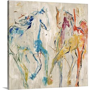 'Horse Dance' by Jodi Maas Painting Print on Canvas