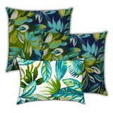 Ravenwood Wispering Foliage Outdoor Rectangular Cushion with filling