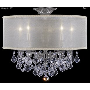 Price Check Llydia 5-Light Outdoor Chandelier By American Brass & Crystal