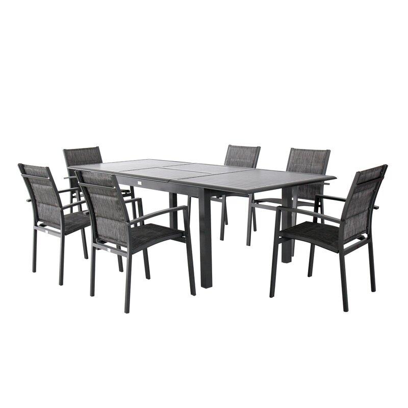 Aluminum 7 Piece Dining Set