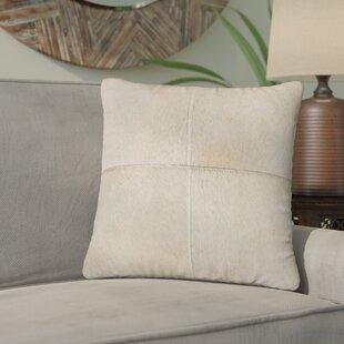 Graham Leather Throw Pillow