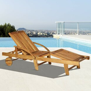Vanness Reclining Sun Lounger With Table By Sol 72 Outdoor