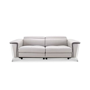 Baccus Leather Reclining Sofa by Wade Logan