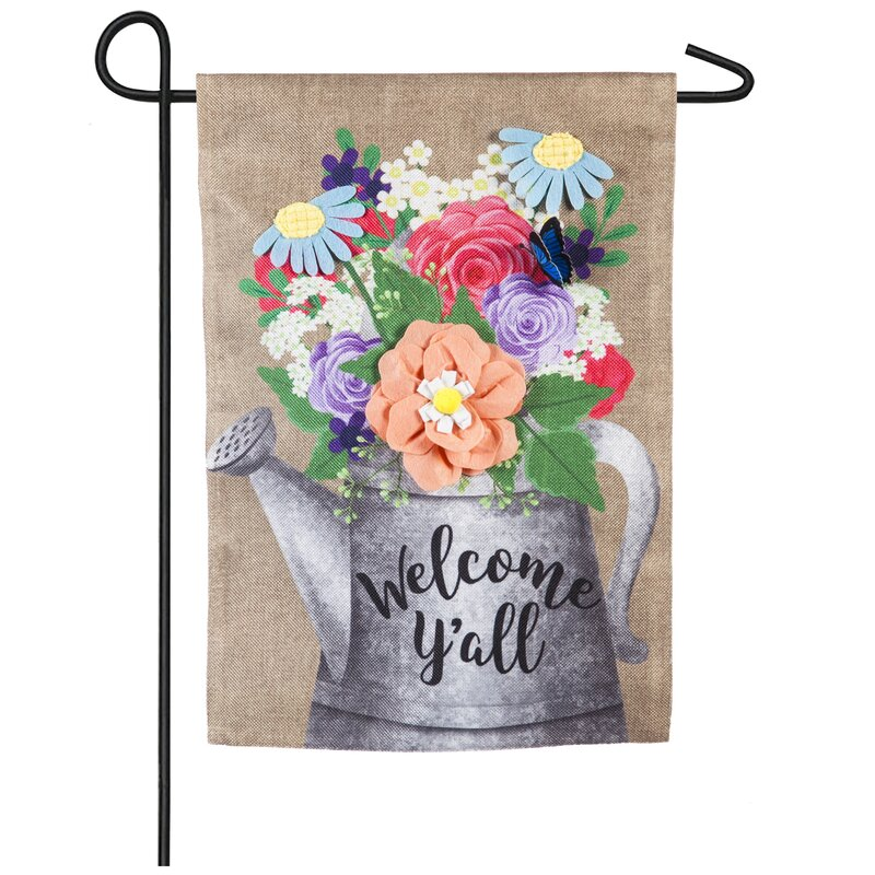 Evergreen Flag & Garden Welcome Y'all Watering Can 2-Sided ...