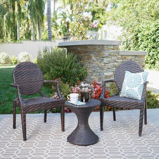 Ziv Outdoor 3 Piece Conversation Set