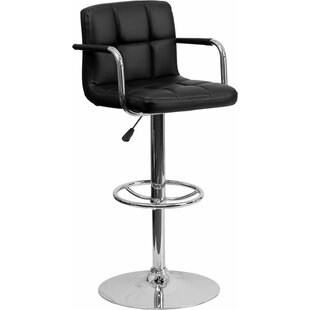Whelan Mid Back Quilted Adjustable Height Swivel Bar Stool