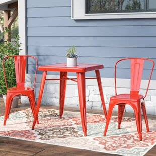 Mercury Row Thurston 3 Piece Bistro Set