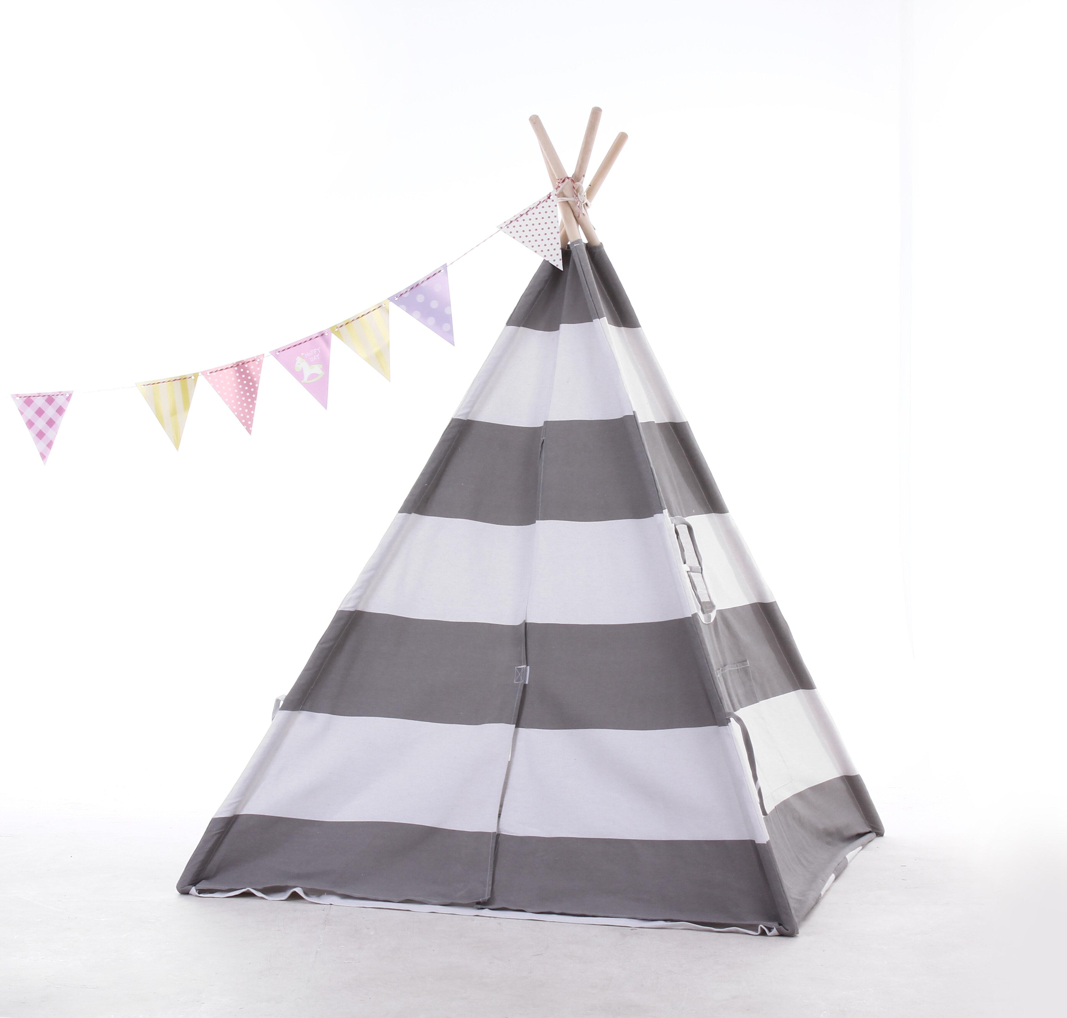 E Joy 4 X 4 Indoor Canvas Triangular Play Tent With Carrying Bag Reviews Wayfair