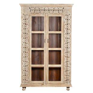 Mistana Alia Carved Panel Glass China Cabinet