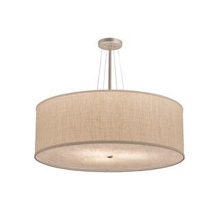 Meyda Tiffany Greenbriar Oak Cilindro Textrene 3-Light Pendant