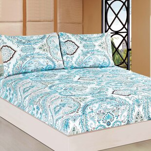 Tache Home Fashion Frozen Forest 100% Cotton Fitted Sheet Set