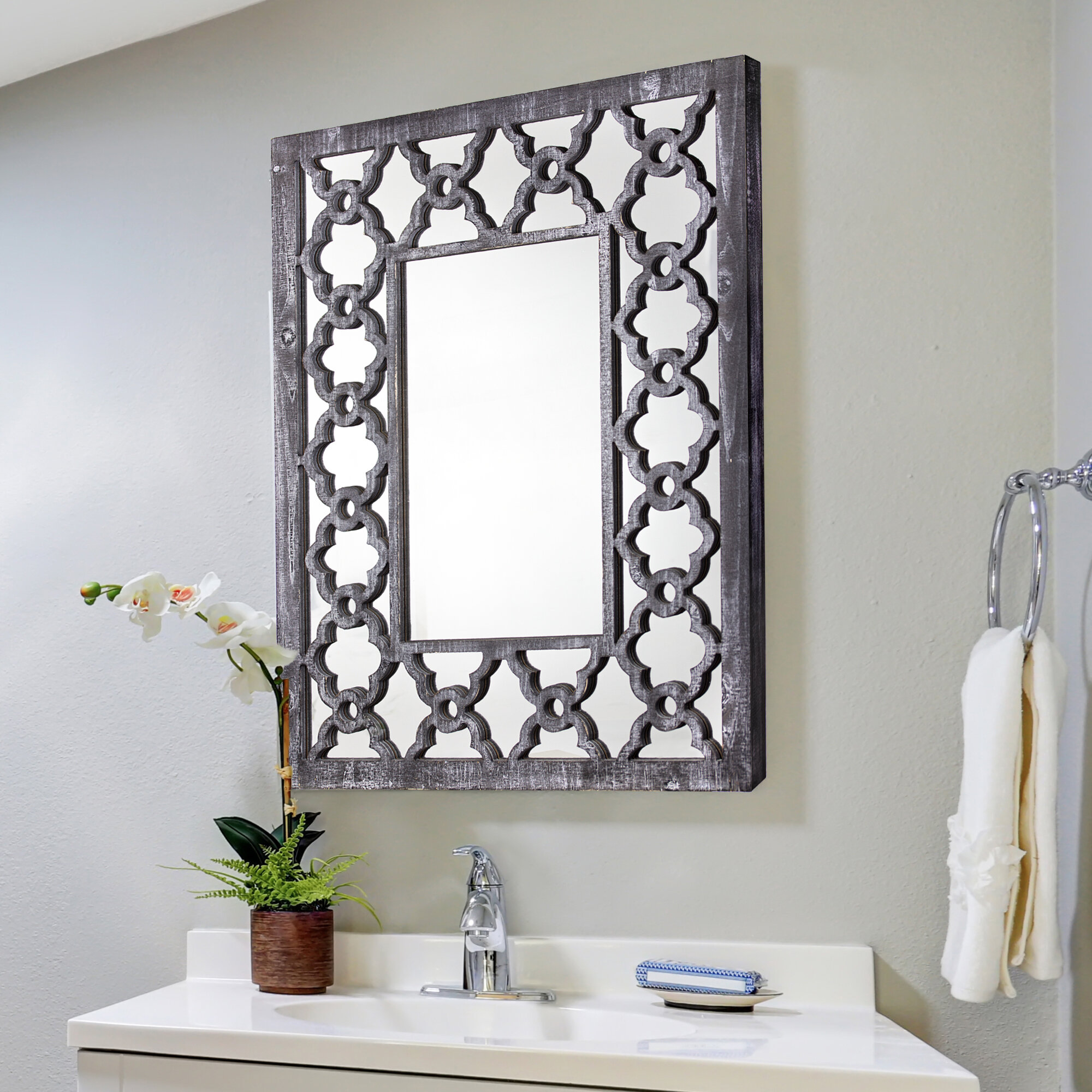 Bathroom Vanity Cottage Country Mirrors Free Shipping Over 35 Wayfair