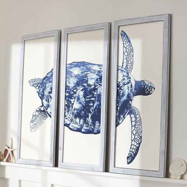 Sea Turtle Home Decor Turtle in Seagrass I Canvas Wall Art Print
