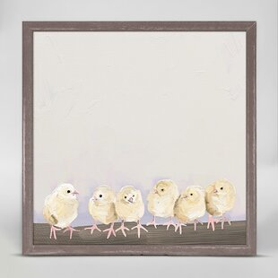 Baby Chicks by Cathy Walters Mini Canvas Framed Art