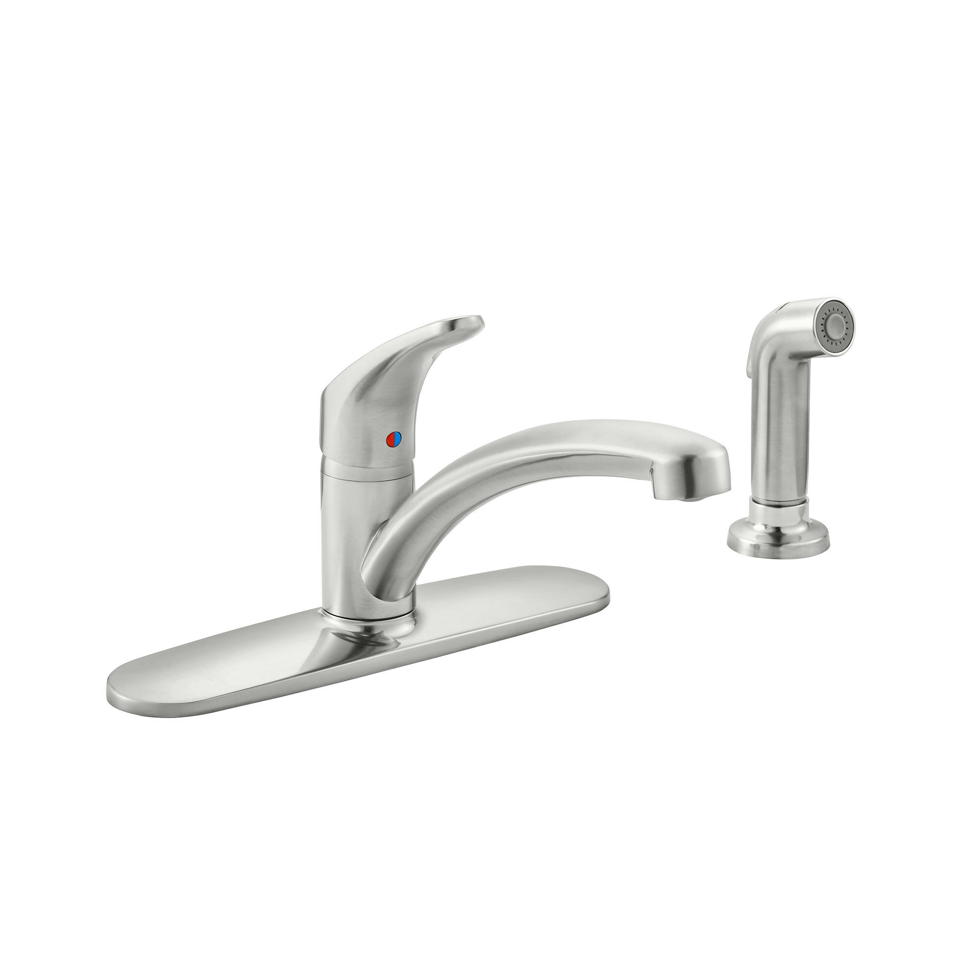 American Standard Colony Pro Single Handle Kitchen Faucet With Side Spray Wayfair
