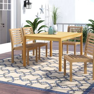 Myres Wood Dining Table by Beachcrest Home