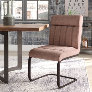 Rabun Side Chair With Brown Upholstery