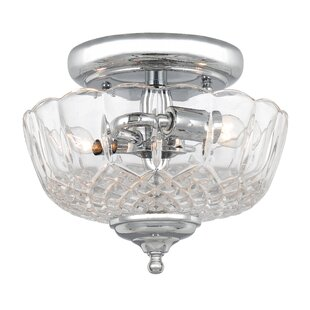 Minerva 2-Light Semi Flush Mount by House of Hampton