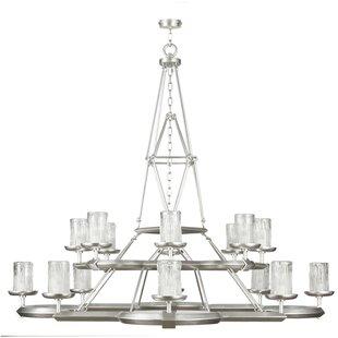 Fine Art Lamps Liaison 16-Light Shaded Chandelier