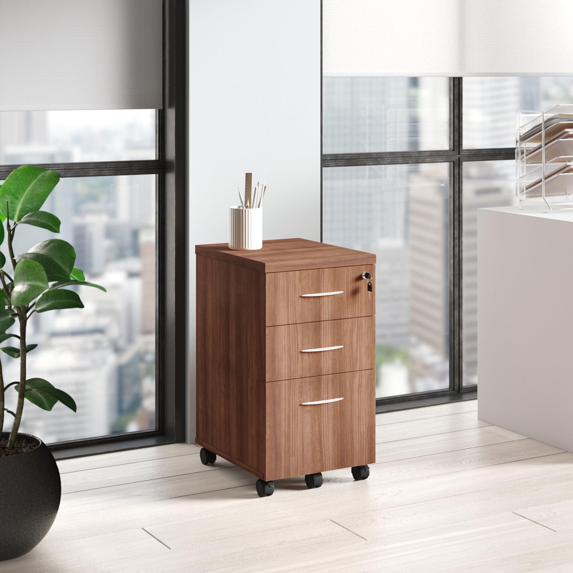 Alera Valencia Series Box Pedestal 20 Drawer Mobile Vertical Filing Cabinet