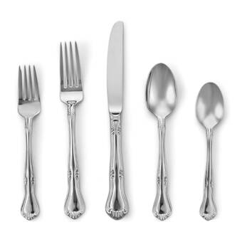 Melon Bud by Gorham Stainless Steel Flatware Set Service for 6 New 30 Pcs Shiny