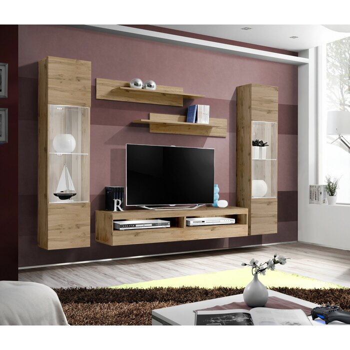 Lindberg Wall Mounted Floating Entertainment Center For Tvs Up To 70